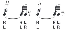 eleven-stroke-roll