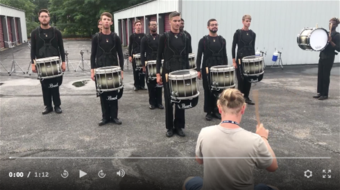 Louisiana Stars Drums Entertain in Michigan City
