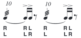 graphic relating to Printable Drum Rudiments titled Rudiments